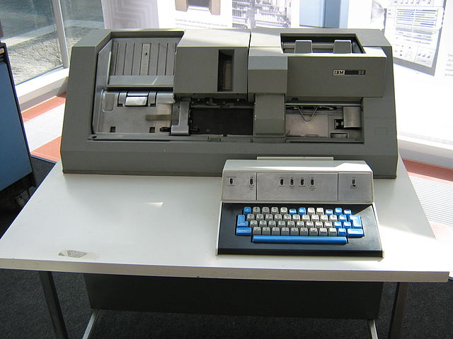 IBM punch card machine